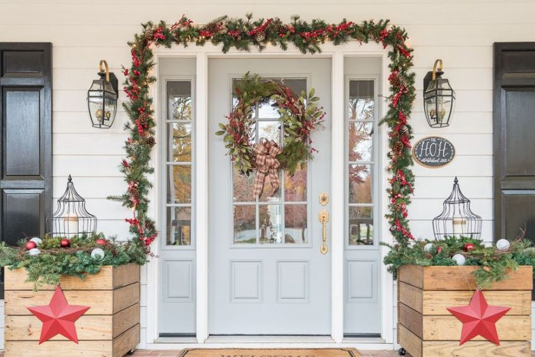 Create A Festive Front Door at this Christmas