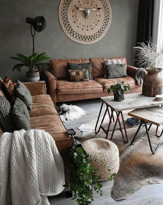 10 Best ways to decorate with a brown sofa